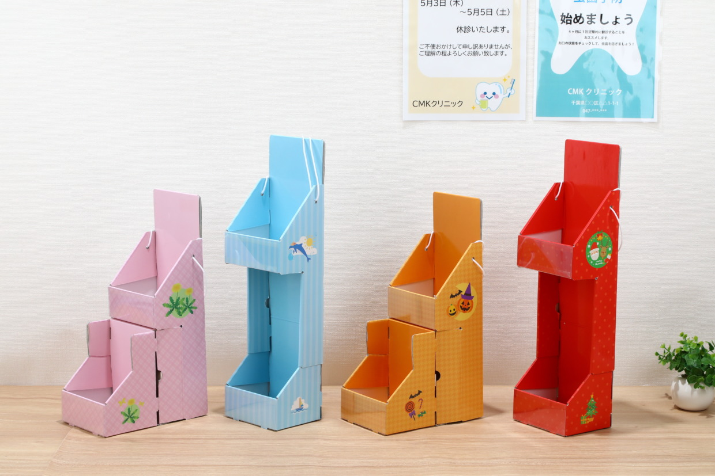 紙製什器 4種(春・夏・秋・冬)